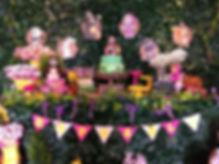 decoração festa masha e o urso floresta
