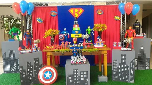 decoração_festa_liga_justiça_vingadores_
