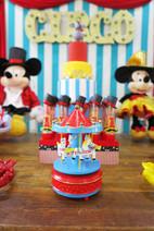 carrossel festa circo mickey theo doces