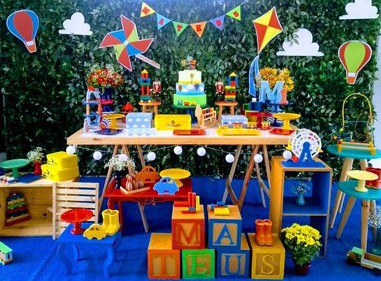 festa brinquedos antigos painel de folha