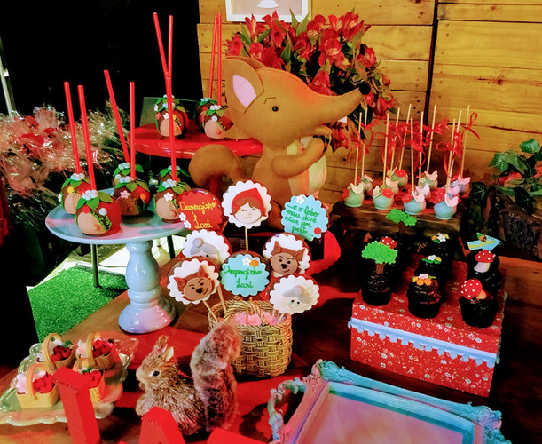 decoracao festa chapeuzinho vermelho  la