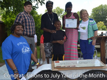 July Yard of the Month Winners