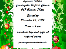 Toy Sale at Countryside Baptist Church This Saturday!