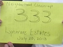 Lynmore Estates Neighborhood Cleanup of July 20, 2013