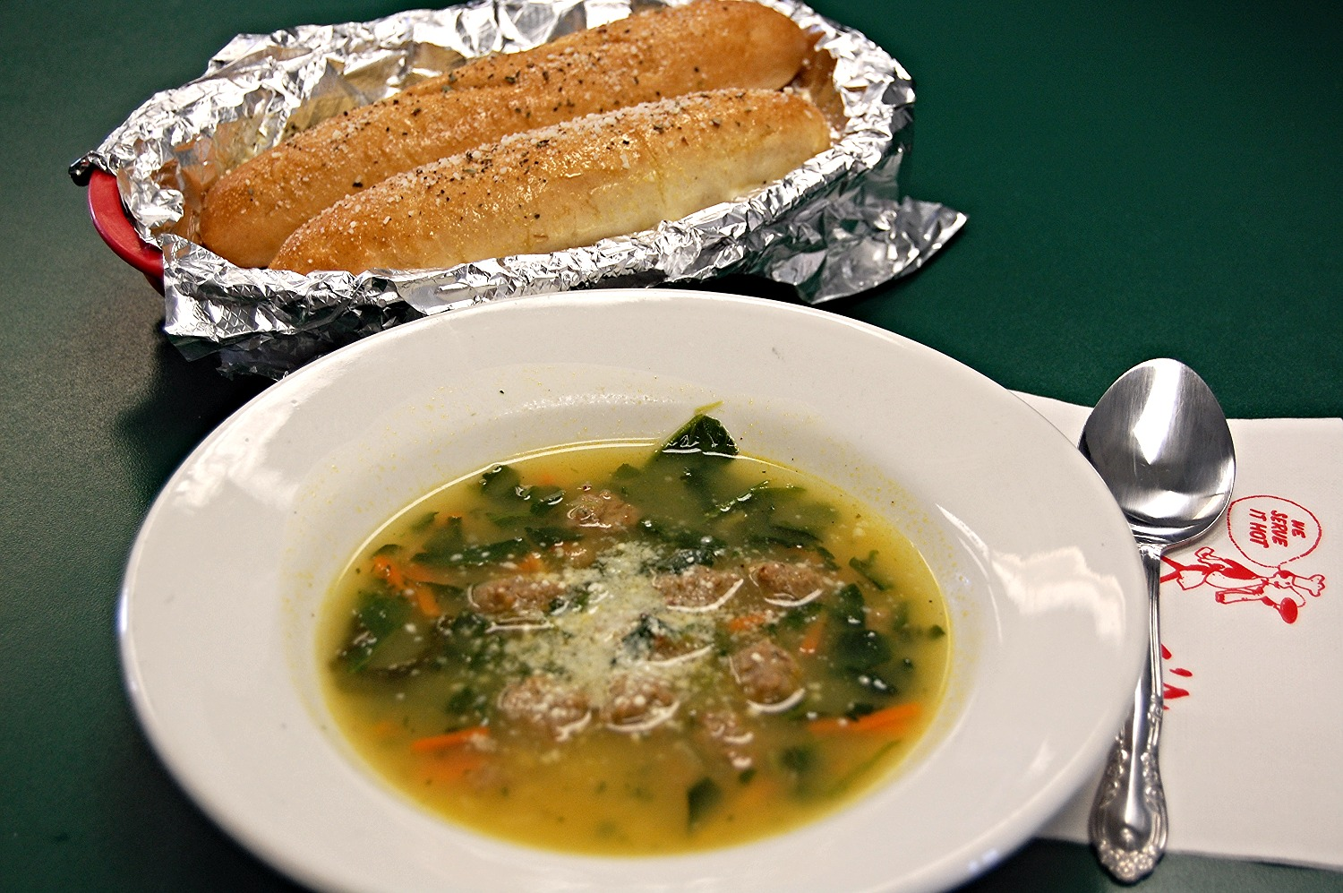 Wedding Soup and Breadsticks