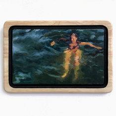 Self-Portrait swimming