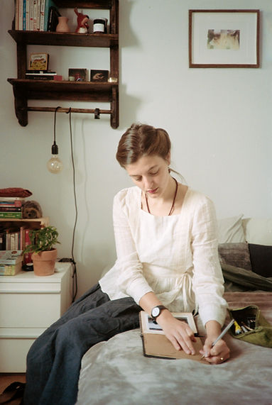 Anna Calleja_writing_photographed by Luc