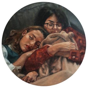 Lucia and Nina sleeping