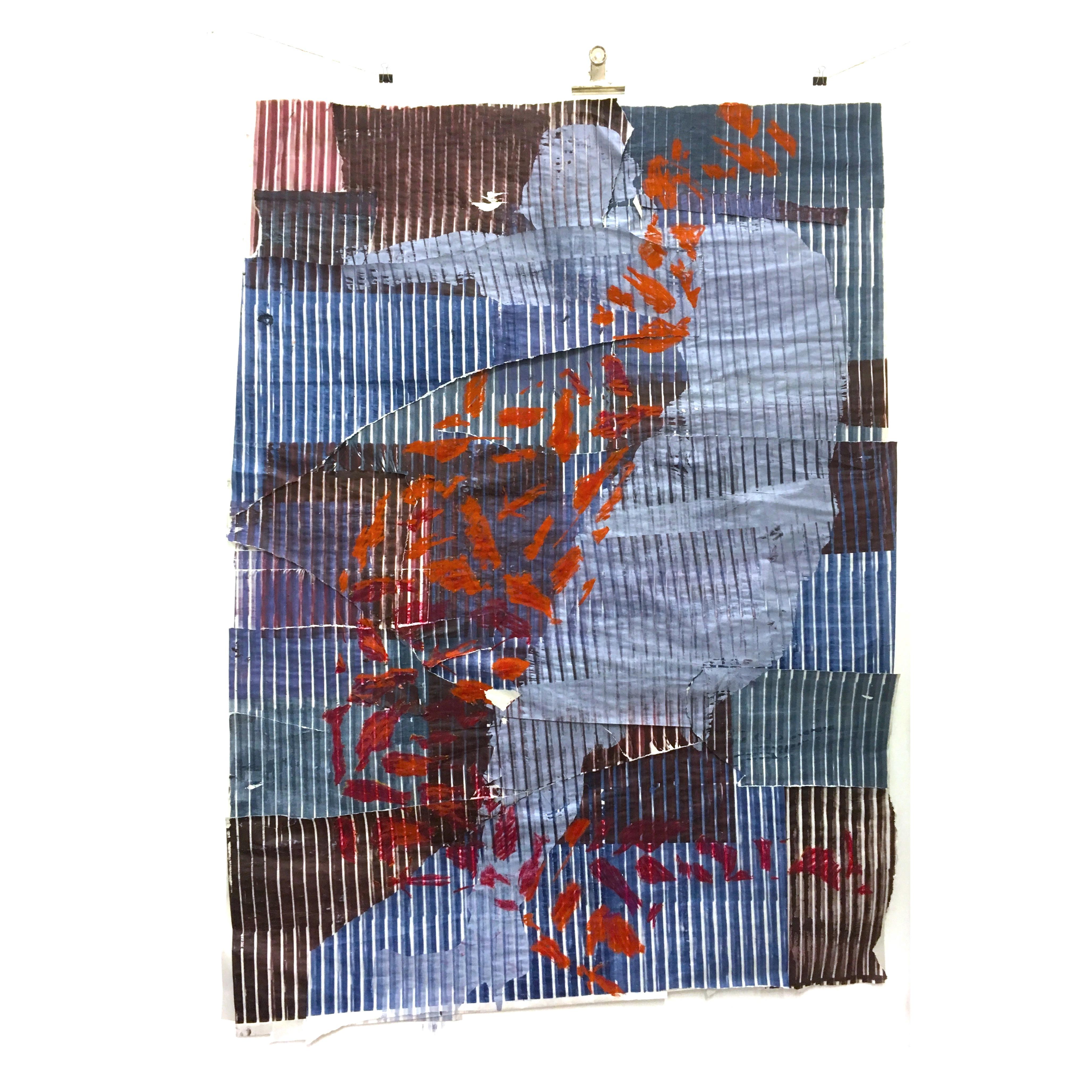 Silk-screen print on Newsprint