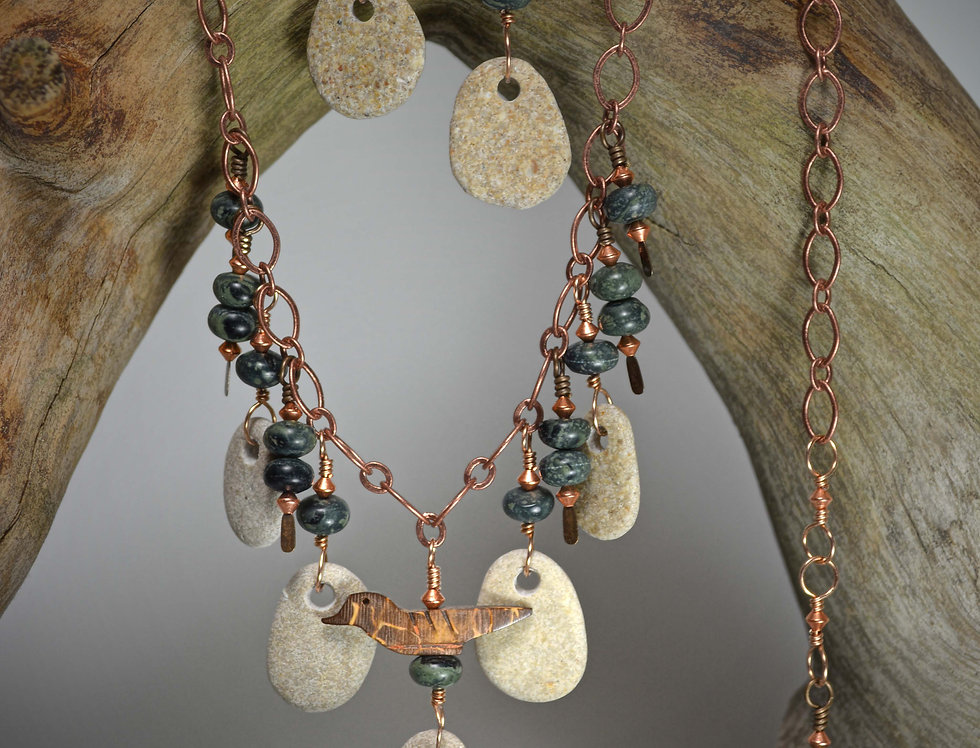 Stone Babies! Necklace Earring Set