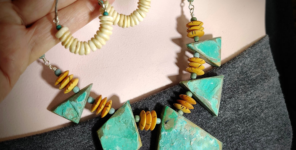 Calm after the storm .. necklace earrings set