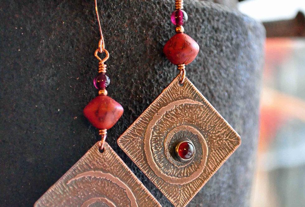 Spiral Dancers .. hook earrings