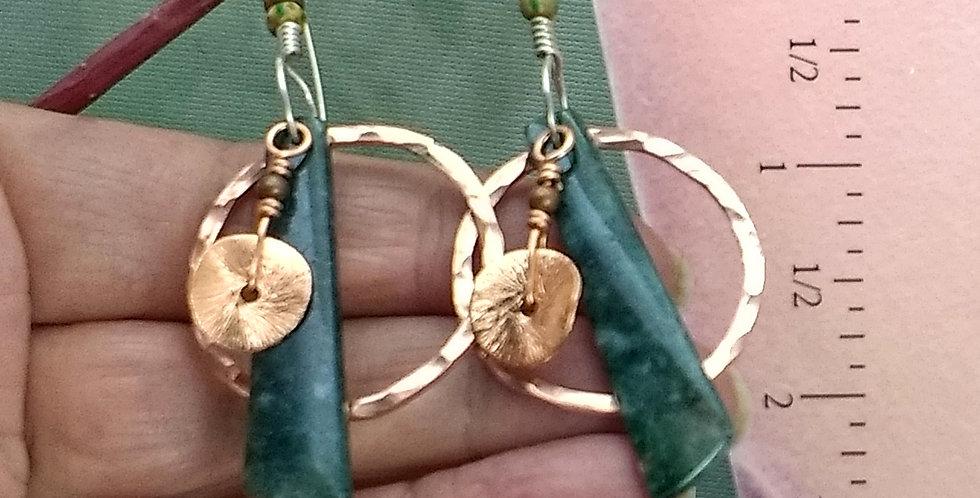 Free Spirited .. hook earrings