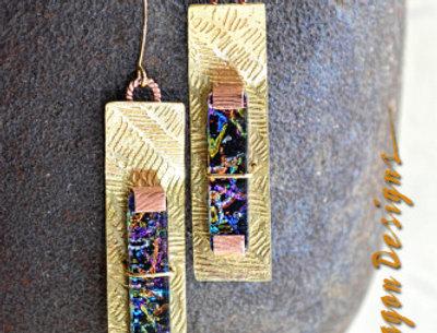 Cosmic Galaxies .. hook earrings