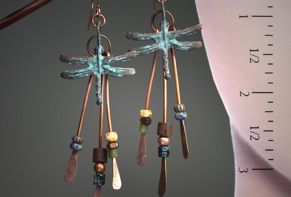 Hook Earrings ..Mykonos Dragonflies Rustica Too