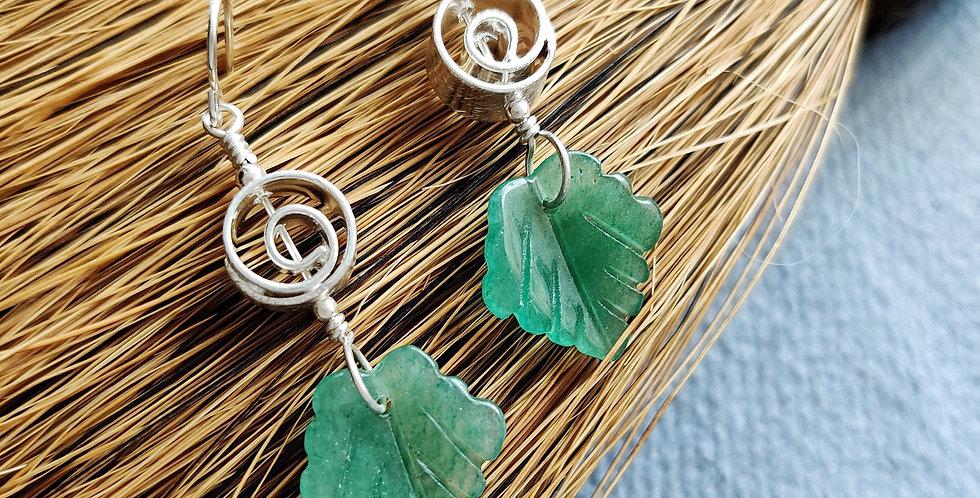 Green Aventurine Leaves