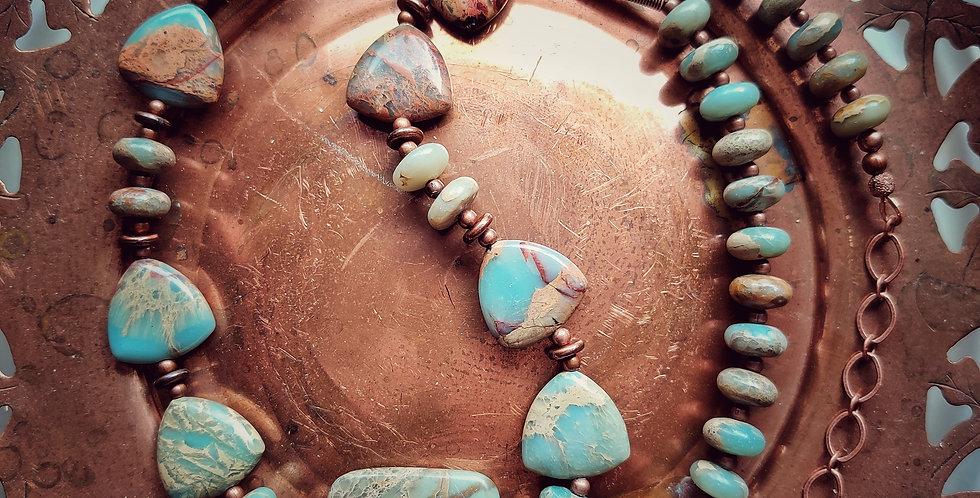 Terra Jasper .. necklace & earrings set