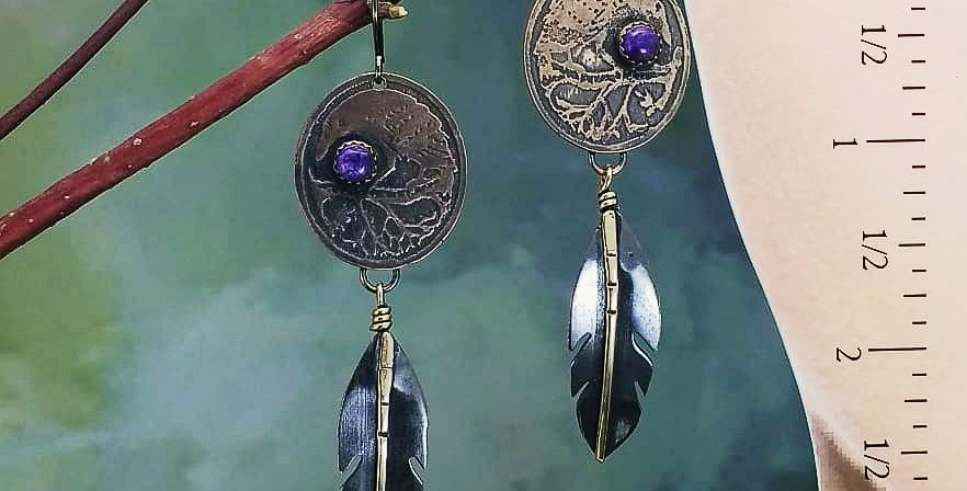 Raven's Keep .. hook earrings