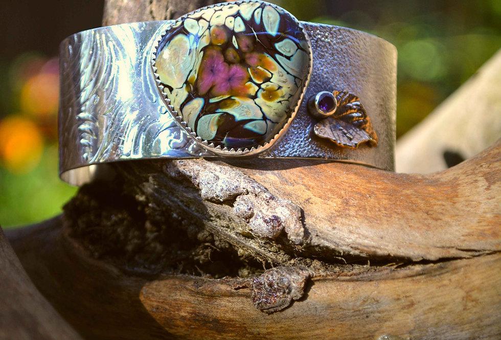 Sunrise Dream in Shadow .. cuff bracelet