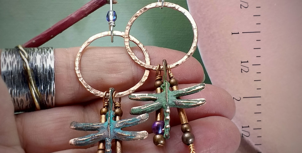 After the Rains .. hook earrings