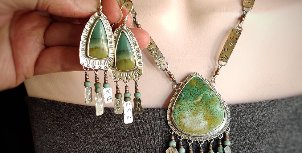 Twilight Skies .. necklace & earrings set