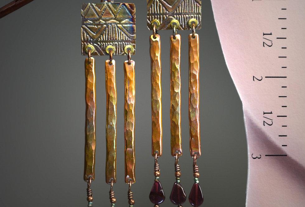 """Hook Earrings .. Bohemian series """"Azteca"""""""