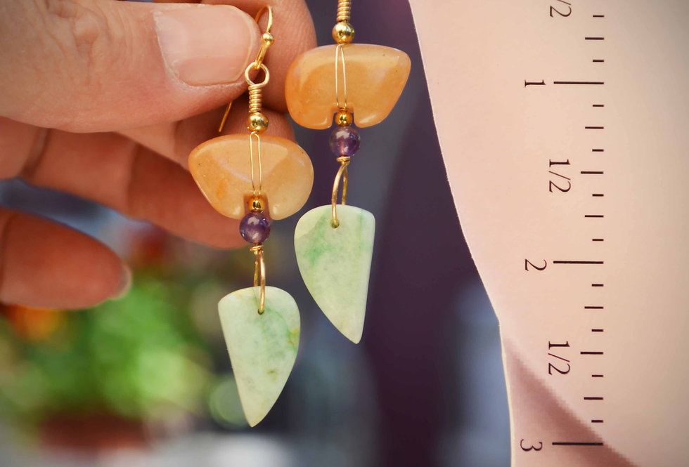 Turning Leaves .. hook earrings