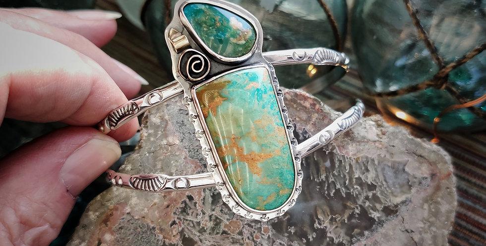 Sun Kissed .. cuff bracelet