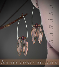 earrings_copperTwoFeathersPurpSalwagPods