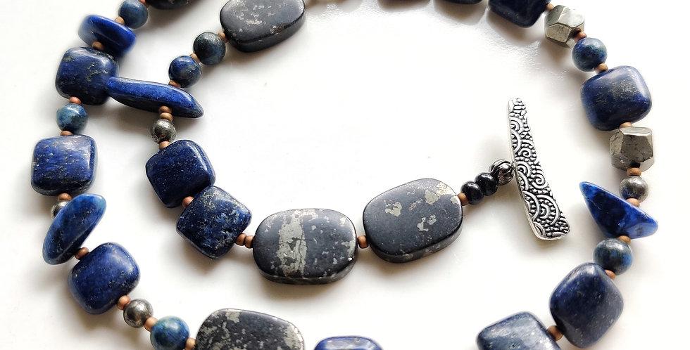Lapis Lazuli 2 Wrap bracelet