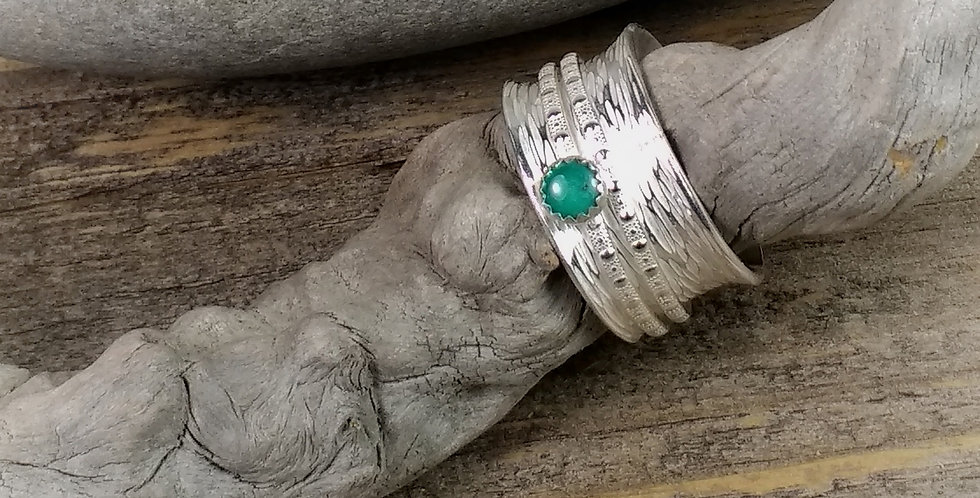 Sterling & Turquoise Spinner Ring