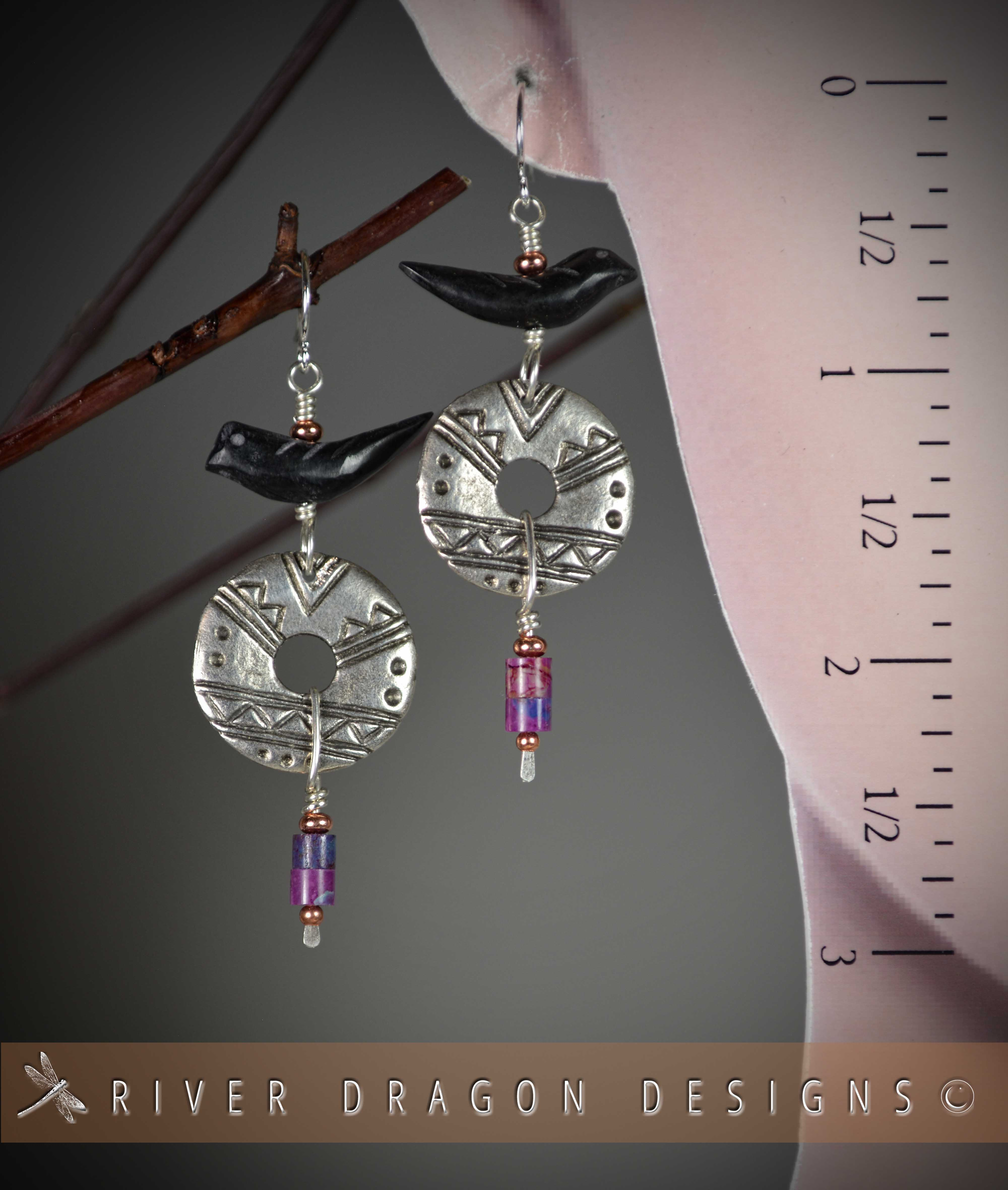 earrings_RavenTribalMykonosdiscSugilite