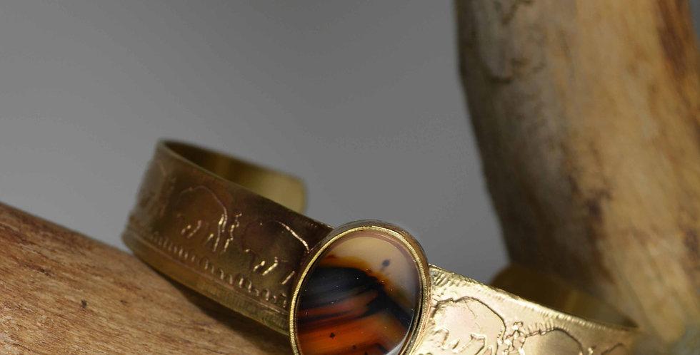 cuff bracelet .. Where The Buffalo Roam