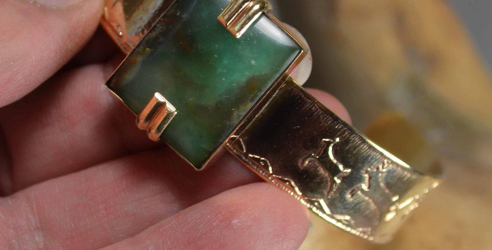 Cuff Bracelet .. Forest Deep