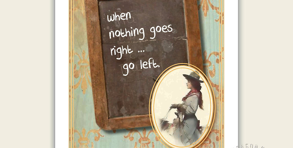 When nothing goes right ... Go left