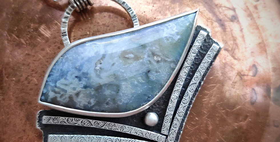 Well Perched .. artisan silversmith necklace