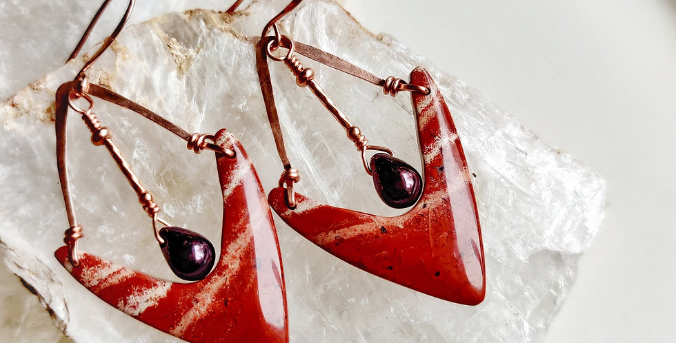 Red River Jasper earrings