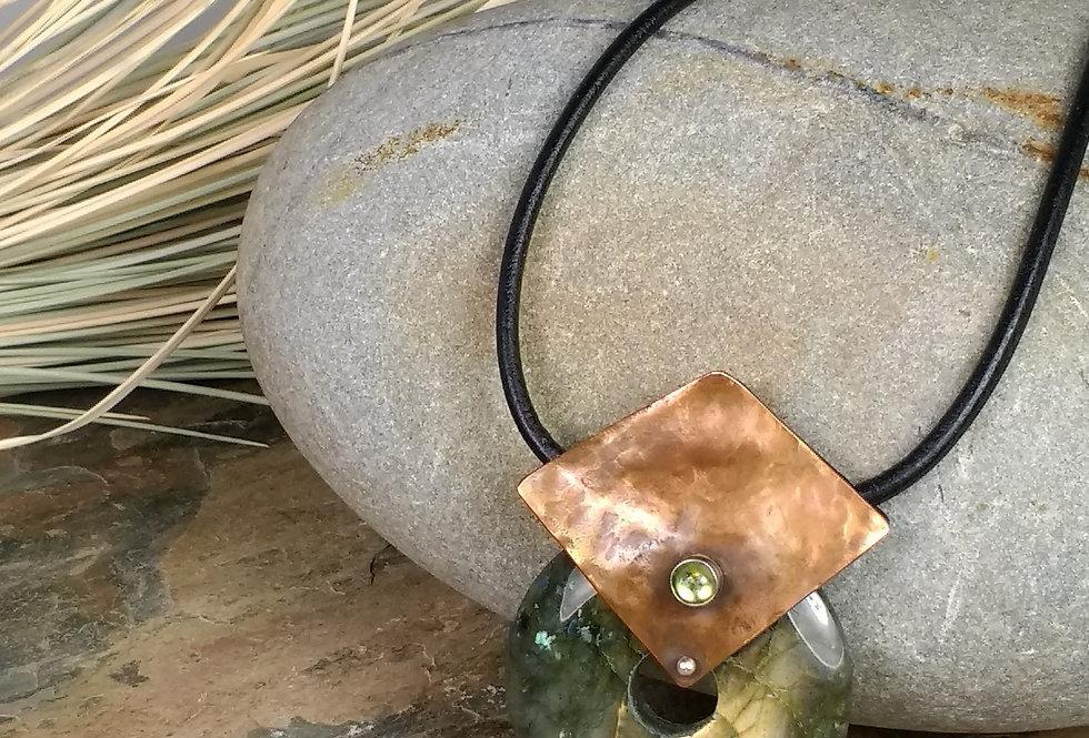 Aurora Labradorite Peridot necklace