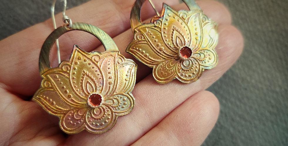 Etched Series .. Mehendi lotus blossom