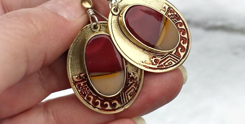 Zuni Woman .. hook earrings
