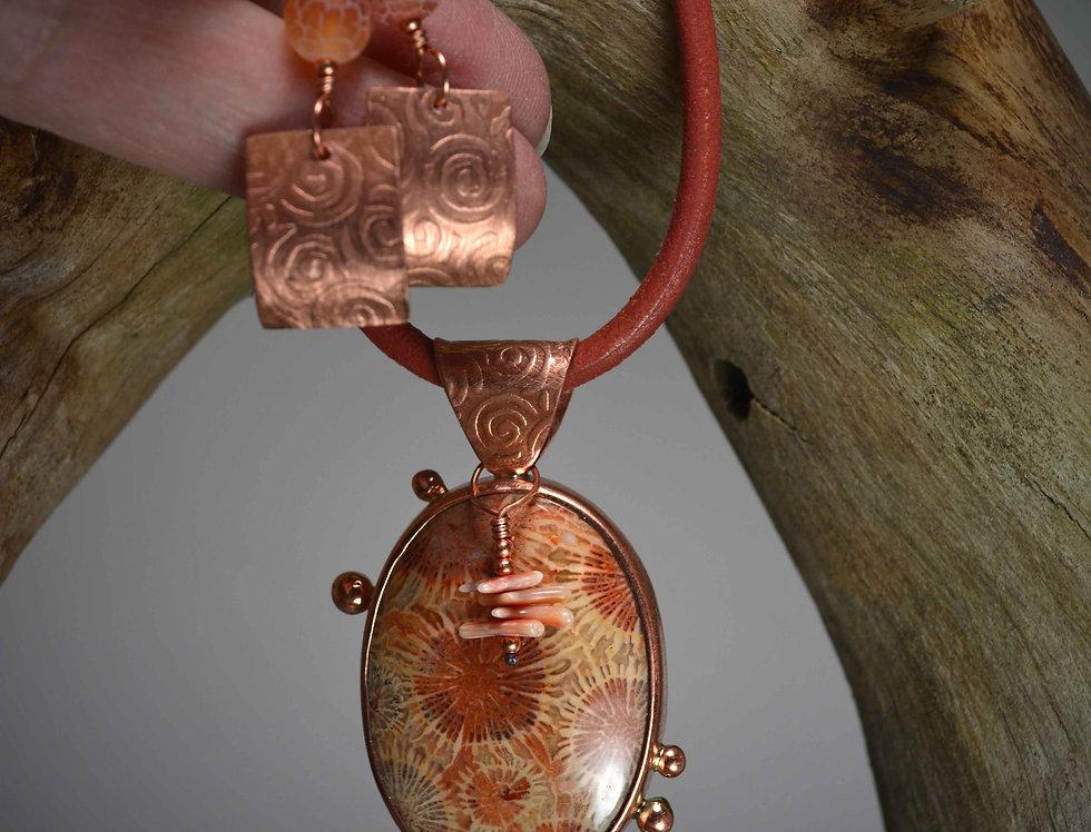Ancient Sea Dweller necklace earring set