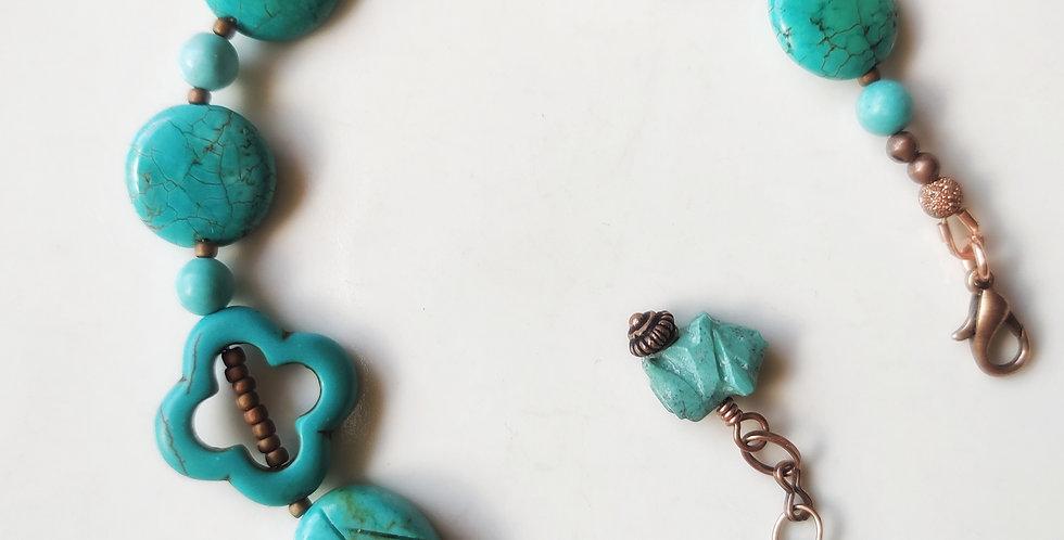 Leaf and Piglet bracelet