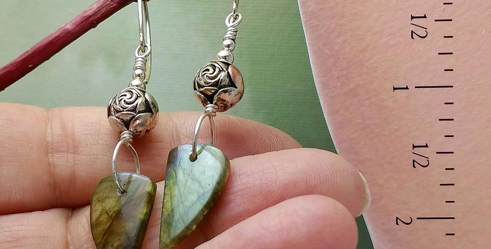 Summer Rose .. hook earrings