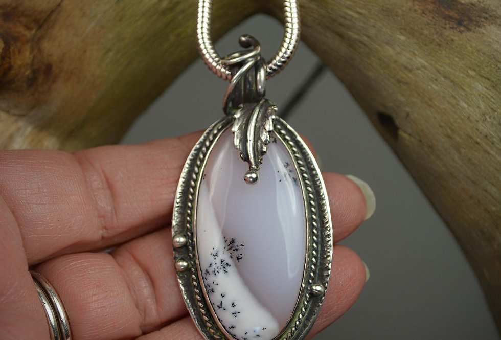 Pendant Necklace .. First Snow