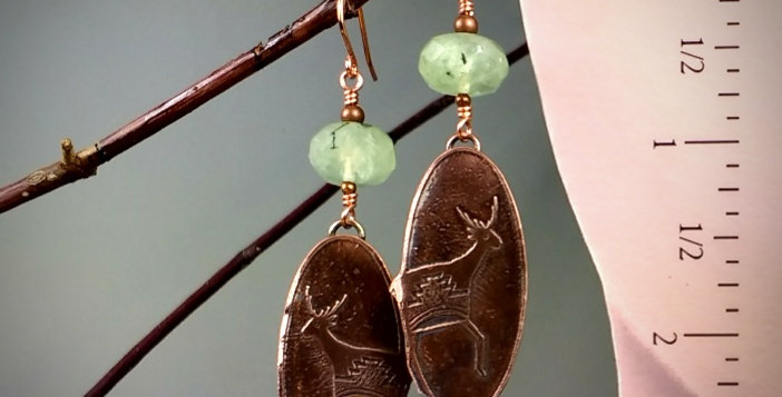 Ancient Peoples series Running Elk .. earrings
