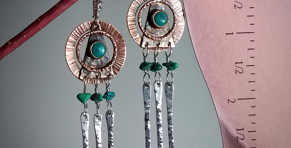 Harmony .. artisan metalwork earrings