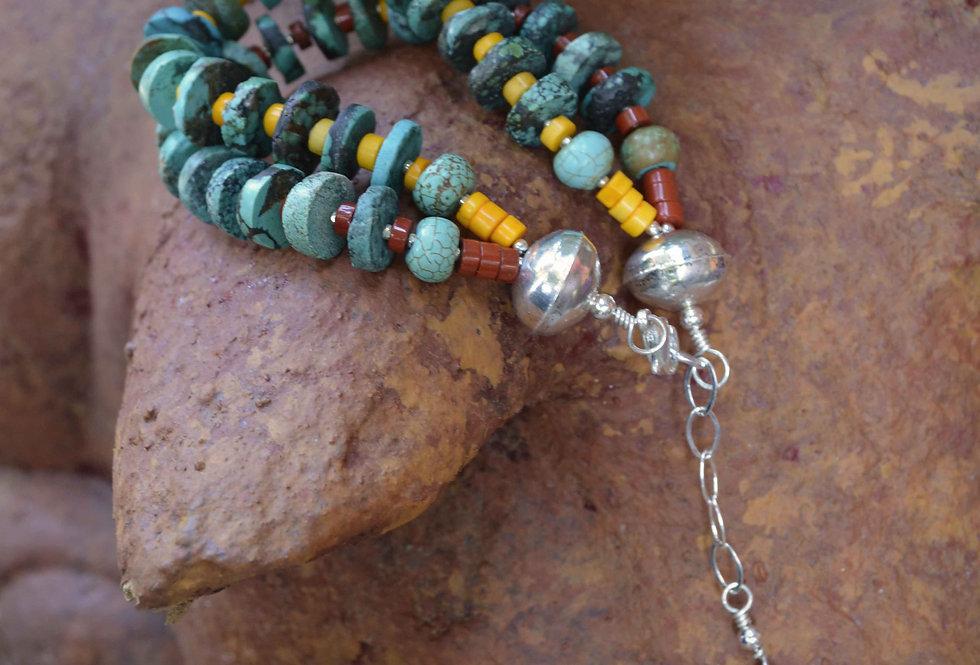 Turquoise Sky Dreamer .. 2 strand bracelet