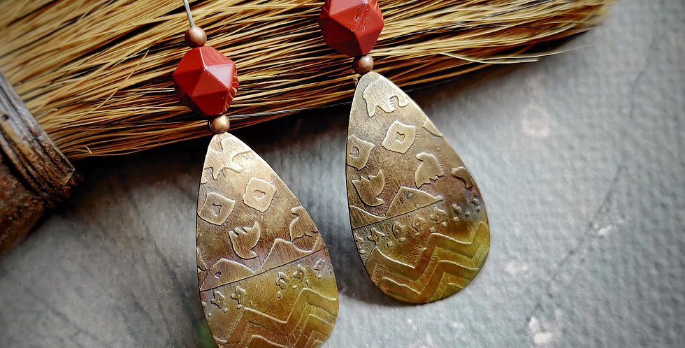 Forty-Niners Series .. Tribal Pattern Red Jasper