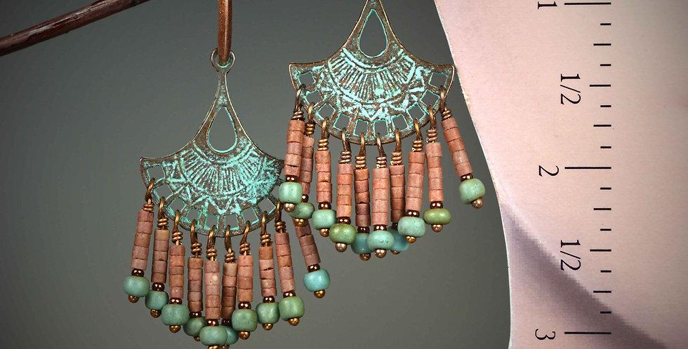 Hook Earrings .. Mykonos Fan Dancers