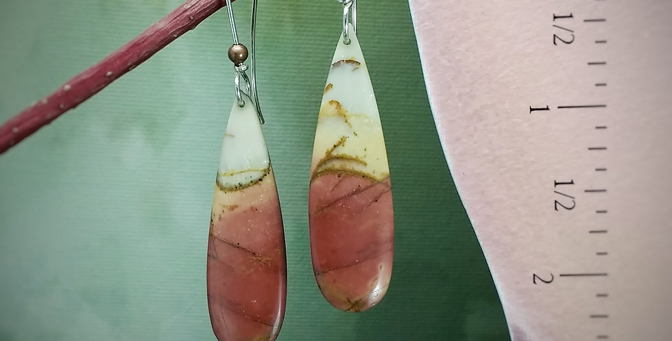 Picasso jasper long teardrops